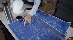 4k Confident female engineer or architect in planning  - stock footage