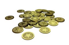 Generic pile of coins - stock illustration