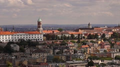 Buildings on the hill Stock Footage
