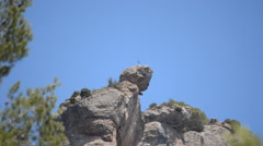 Cross On Top Of Scary Rock Stock Footage