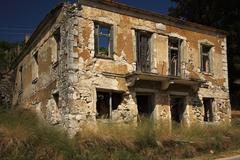 Derelict House Kefalonia Stock Photos