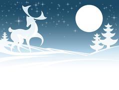 Winter Deer Illustration Stock Illustration