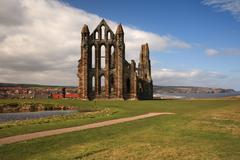Whitby Abbey View - stock photo