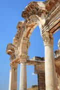 Historical Gate at Ephesus Stock Photos