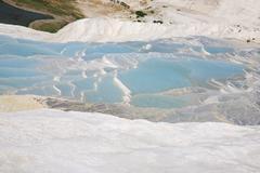 Azure pools of water Pumakkale - stock photo