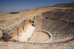 View of the outdoor theatre Hierapolis - stock photo