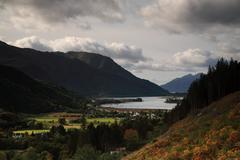 Dark cloudes over Glencoe - stock photo