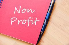 Non profit text concept - stock photo