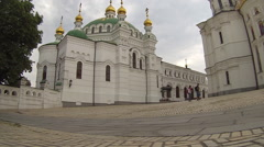 National Kyiv-Pechersk Historical and Cultural Preserve Establishing Shot - stock footage