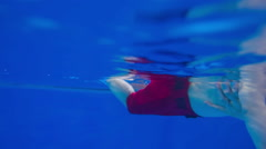 Swimming learning underwater snapshot - stock footage
