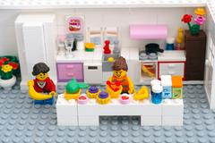 Lego custom domestic kitchen Stock Photos