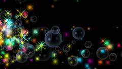 4k Stars particle firework background,fire energy,gunpowder bubble explosion. Stock Footage
