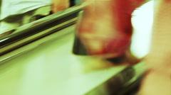 Escalator subway Stock Footage