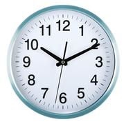 Wall clock isolated on white background. Ten past ten Stock Photos