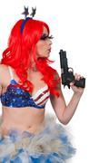 Woman Rave Girl - stock photo