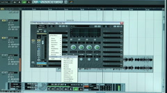 Music Studio Monitor Sound Wave Graph Stock Footage