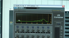 Music Studio Monitor Sound Wave Graph. Zoom Out. Stock Footage