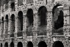Colloseum in Roma in BW - stock photo