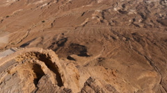 Time-lapse from the top of Masada overlooking the valley and the Dead Sea. Stock Footage