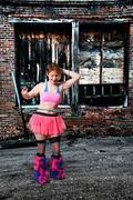 Woman with Hula Hoop Stock Photos