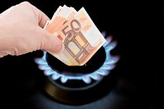 Cost of gas - stock photo