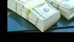 money cash outside in 4k - stock footage