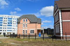 KRASNOGORSK, RUSSIA - APRIL 22,2015: Krasnogorsk is city and center of Stock Photos