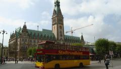 Germany - Hamburg Rathaus is the city hall or town hall of the Free and H Stock Footage