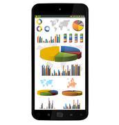 Modern mobile phone Stock Illustration