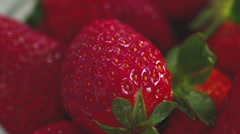 Strawberry close up Stock Footage