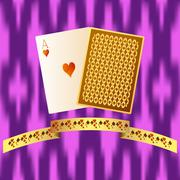 Poker playing cards Piirros