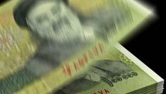 Counting Iranian Rial Stock Footage