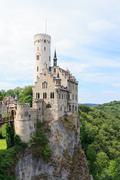 Lichtenstein castle in germany Stock Photos