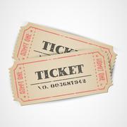 Vector vintage tickets - stock illustration