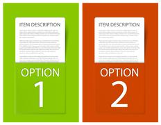 Stock Illustration of Set of Colorful Vector Sample option cards