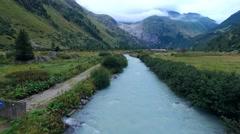 River Rhone near Gletsch Stock Footage