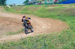 Racer motorcycle - stock photo