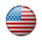 Vector badge with american flag Piirros