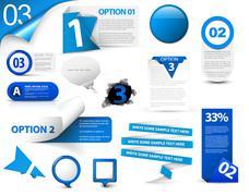 Stock Illustration of Set of blue vector progress icons