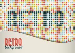 Vector retro background / template - stock illustration