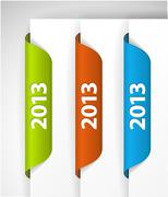 Vector 2013 Labels / Stickers Stock Illustration