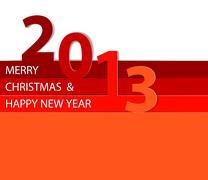 Happy New Year 2013 vector card - stock illustration