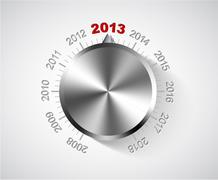 Vector 2013 New Year card Stock Illustration
