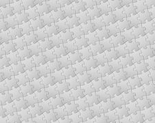 Vector background made from white puzzle pieces - stock illustration
