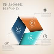 Abstract shape with Infographic - stock illustration