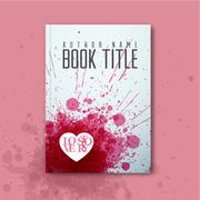 Modern Vector abstract love book cover template Stock Illustration
