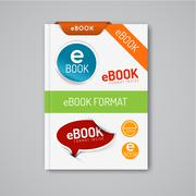 ebook markers - stickers, corners, labels - stock illustration