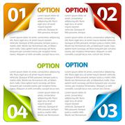 Stock Illustration of Set of Colorful Vector Sample option stickers