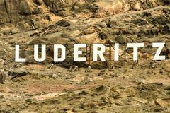 Luderitz City Sign - stock photo