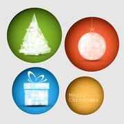 Vector christmas decoration card Stock Illustration